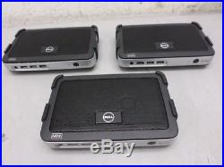 3 Wyse Dell Tx0D Thin Client 4Gb Flash 2GB RAM DVI Part Number 909627-01L