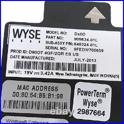 9x WYSE Thin Client Model Dx0D D90D7 909634-01L No Ram No SSD With P/S (Lot)