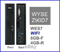 DELL Zx0 Wyse Z90D7 Thin Client G-T56N 8GB Flash 4GB Ram WiFi WES7 909603-21L