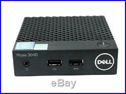 Dell Wyse 3040 R11TG Intel Atom 1.44GHz 2GB RAM 16GB SSD ThinOS 8.4 Thin Client