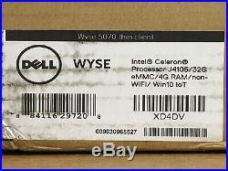 Genuine OEM Dell Wyse 5070 Thin Client 4GB 32GB XD4DV NEW