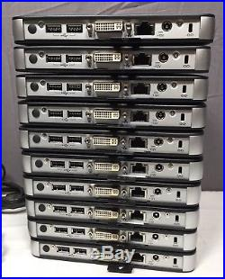 Lot of 10 Dell Wyse T10 1GB Thin Client 909566-01L DVI Wireless with A/C Adapter