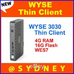 NEW DELL WYSE 3030 Thin Client (1.58GHz/4GB/16GB/WES7) Win7 TFDD0