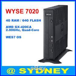New Dell WYSE ZX0Q 7020 Thin Client AMD GX-420CA 2.0GHz 4GB RAM WES7