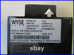 V14 WYSE THIN CLIENT PxN P25 TERA2 512R RJ45 US WithMOUNTS AND POWER CORDS 8 LOT