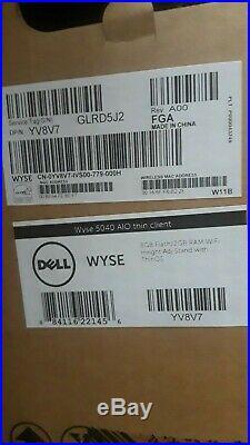 Wyse 5040 Yv8v7 Aio 21.5 Thin Client, T48e, 2gb Ram, 8gb Flash, Wifi, Thin Os